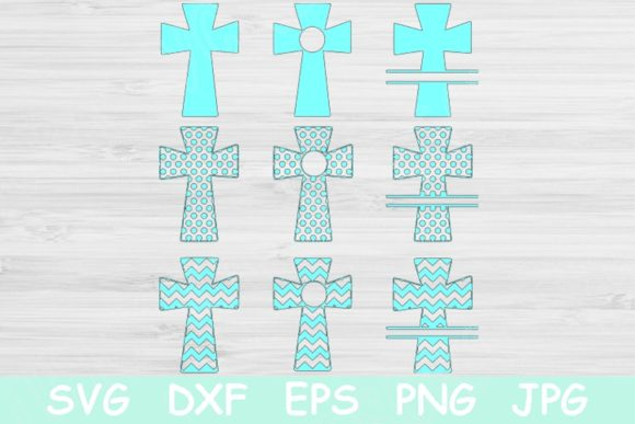Cross Svg, Cross Monogram, Religious Svg Graphic Crafts By TiffsCraftyCreations