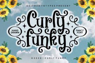 Print on Demand: Curly Funky Script & Handwritten Font By Keithzo (7NTypes)