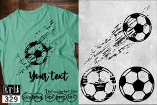 Distressed Grunge Football Soccer Graphic Crafts By Krit-Studio329
