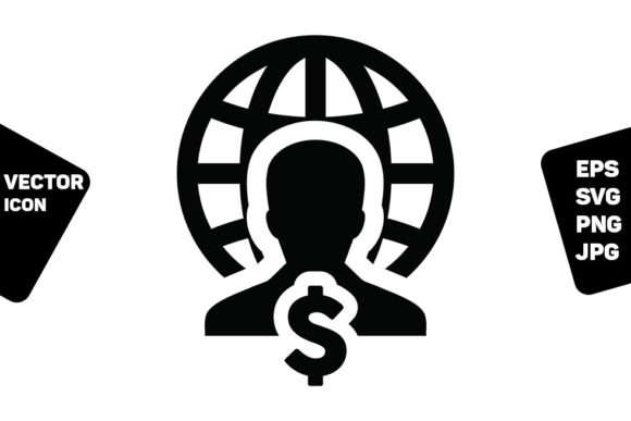 Print on Demand: Dollar Sign Currency Money Icon Vector Graphic Icons By TukTuk Design