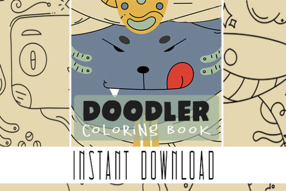 Doodler Cute Coloring Book Pages Designs Graphic Coloring Pages & Books Kids By Rabbit Art