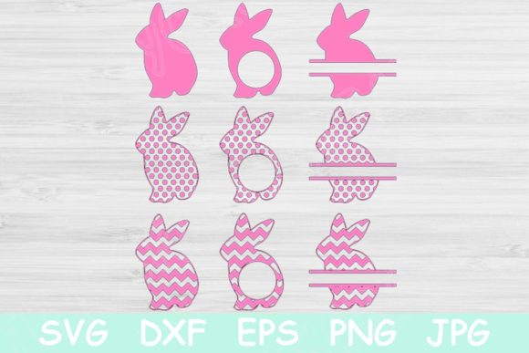 Easter Bunny Svg, Easter Svg Monogram. Graphic Crafts By TiffsCraftyCreations