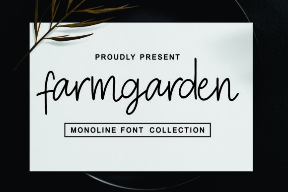 Print on Demand: Farmgarden Script & Handwritten Font By Mozarella
