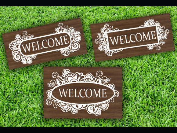 Print on Demand: Floral Welcome SVG & Cut File Graphic Print Templates By johanruartist