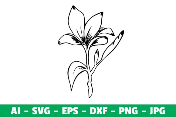 Print on Demand: Flower Clipart Silhouette Graphic Crafts By Girinesia