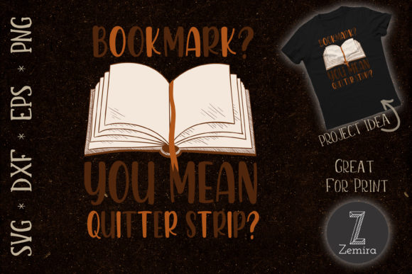 Print on Demand: Funny Bookmark Book Reading Lover Graphic Crafts By Zemira