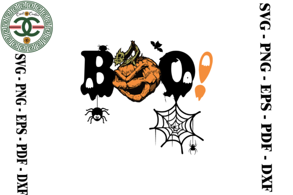 Print on Demand: Halloween Boo Bee Vector Clipart Graphic Print Templates By Cricut Creation