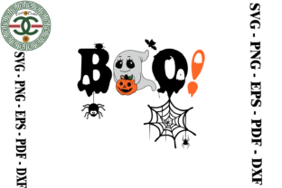 Print on Demand: Halloween Boo Spider Vector Graphic Print Templates By Cricut Creation