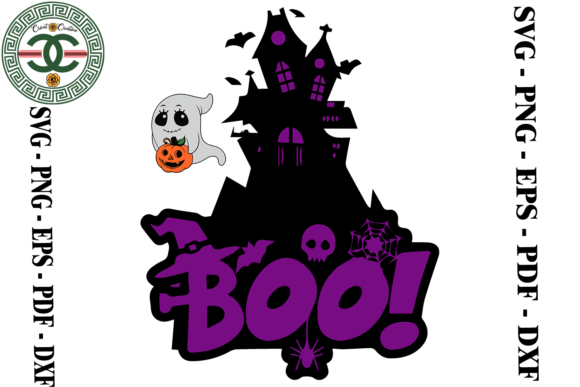 Print on Demand: Halloween Boo Vector Graphic Print Templates By Cricut Creation