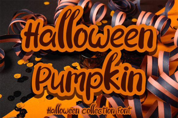 Print on Demand: Halloween Pumpkin Script & Handwritten Font By Inermedia STUDIO