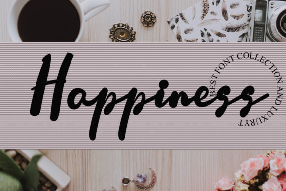 Print on Demand: Happiness Script & Handwritten Font By Inermedia STUDIO