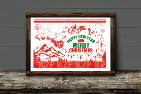 Print on Demand: Happy New Year and Merry Christmas SVG Graphic Crafts By KtwoP
