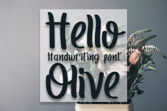 Print on Demand: Hello Olive Script & Handwritten Font By Inermedia STUDIO