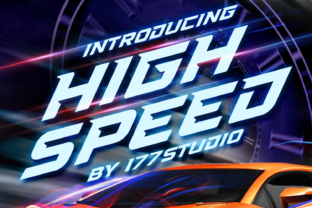 Print on Demand: High Speed Display Font By 177Studio