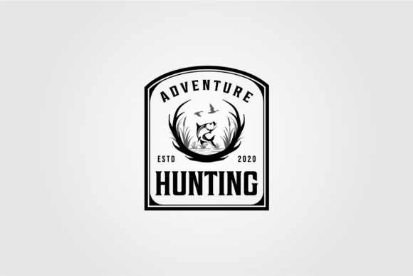 Hunting Adventure Logo Vintage Vector Graphic Logos By lawoel