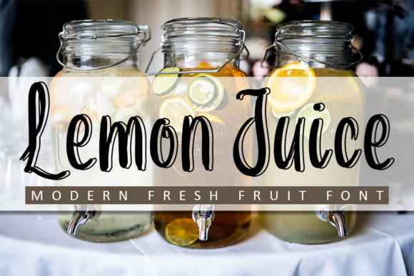 Print on Demand: Lemon Juice Script & Handwritten Font By Inermedia STUDIO