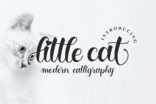 Print on Demand: Little Cat Script & Handwritten Font By Letterfand.Studio