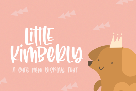 Print on Demand: Little Kimberly Display Font By Salt & Pepper Designs