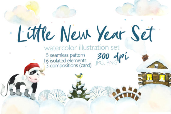 Little New Year Set Graphic