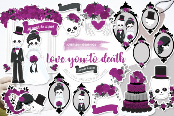 Print on Demand: Love You Till Death Graphic Graphic Templates By Prettygrafik
