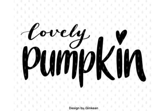 Print on Demand: Lovely Pumpkin Graphic Graphic Templates By Ginkean