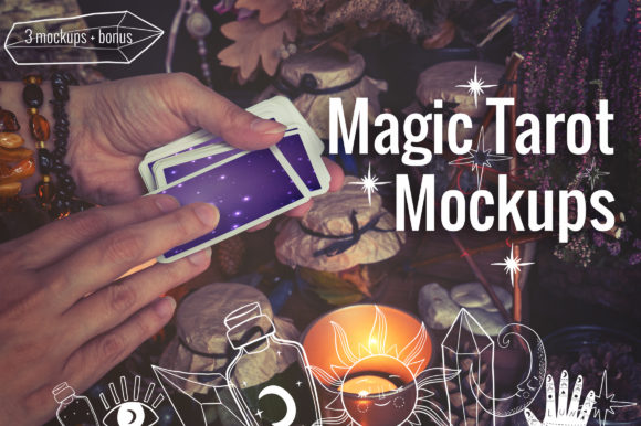 Magic Tarot Cards Mockups Graphic Product Mockups By neauth