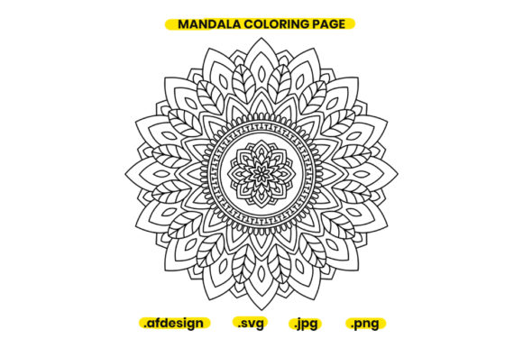 Print on Demand: Mandala Coloring Page Design 11 Graphic Coloring Pages & Books Adults By doridodesign