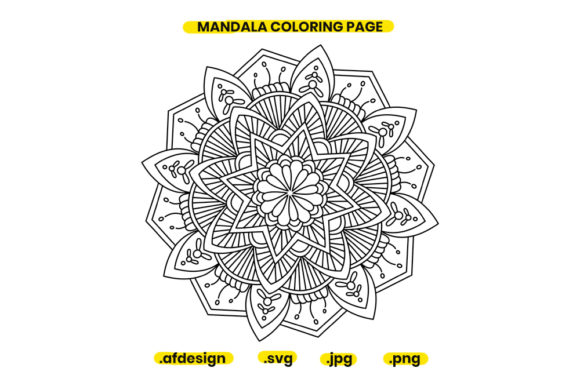 Print on Demand: Mandala Coloring Page Design 12 Graphic Coloring Pages & Books Adults By doridodesign