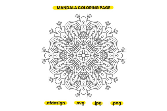 Print on Demand: Mandala Coloring Page Design 13 Graphic Coloring Pages & Books Adults By doridodesign