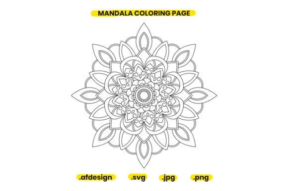 Print on Demand: Mandala Coloring Page Design 14 Graphic Coloring Pages & Books Adults By doridodesign