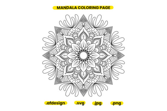 Print on Demand: Mandala Coloring Page Design 16 Graphic Coloring Pages & Books Adults By doridodesign