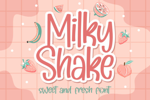 Print on Demand: Milky Shake Display Font By Orenari