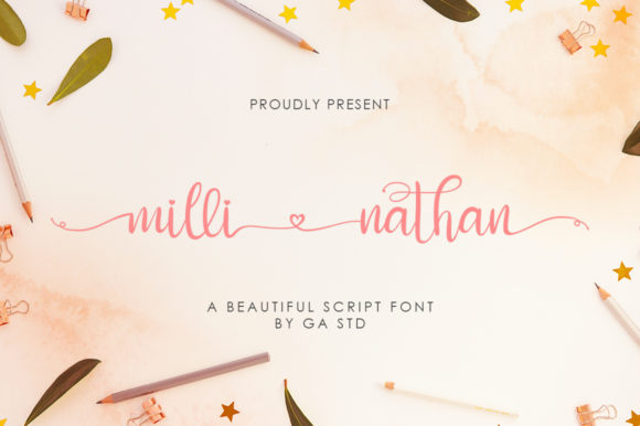 Print on Demand: Milli Nathan Script & Handwritten Font By Green Adventure Studio