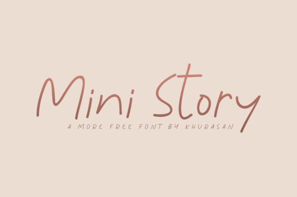 Print on Demand: Mini Story Script & Handwritten Font By Khurasan