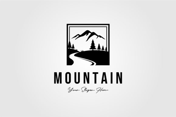 Minimalist Mountain Outdoor Logo Vector Graphic Logos By lawoel