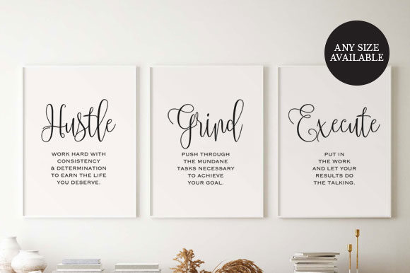 Office Decor for Girl Boss Graphic Print Templates By TwentyOneStudios