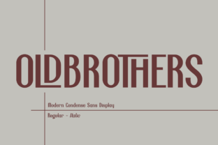 Print on Demand: Old Brothers Display Schriftarten von Haksen