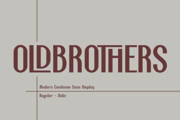 Print on Demand: Old Brothers Display Font By Haksen