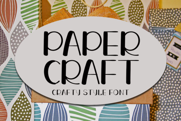 Print on Demand: Paper Craft Display Font By ONE DESIGN