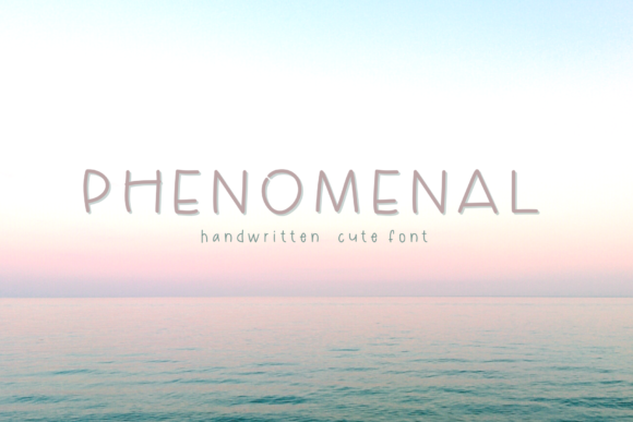 Print on Demand: Phenomenal Script & Handwritten Font By Danika D.