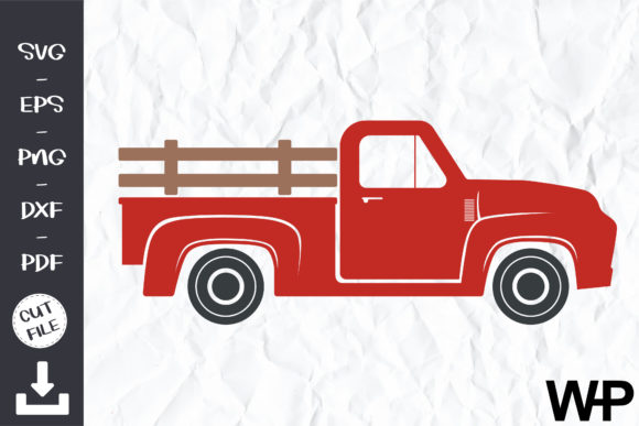 Pickup Truck Clipart, Red Truck SVG Graphic Illustrations By wanchana365