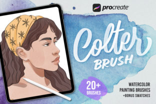 Procreate Colter Brush - Watercolor Gráfico Pinceles Por Nurmiftah