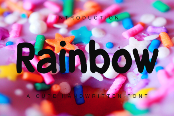 Print on Demand: Rainbow Display Font By giatstudios