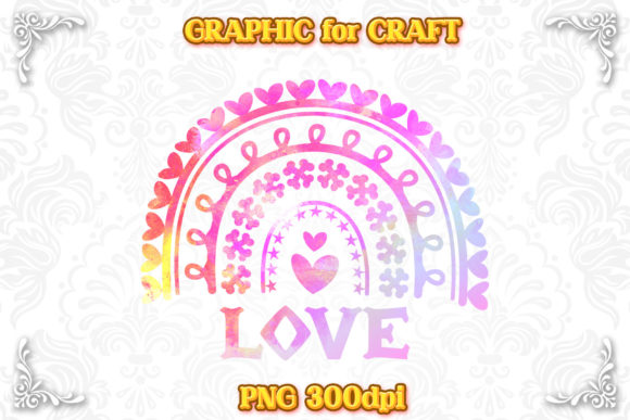 Print on Demand: Rainbow Love Watercolor Sublimation PNG Graphic Crafts By numnim