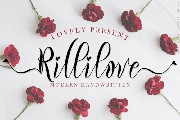 Print on Demand: Rillilove Script & Handwritten Font By yogaletter6
