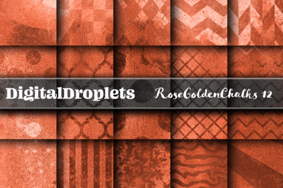 Rose Golden Chalks V12 Graphic Backgrounds By digitaldroplets