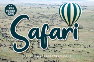 Print on Demand: Safari Display Font By twinletter