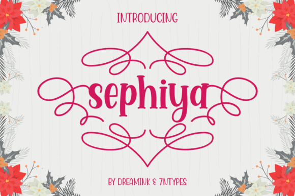 Print on Demand: Sephiya Display Font By Dreamink (7ntypes)