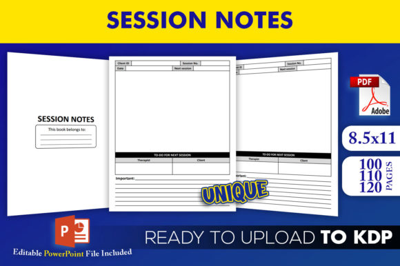 Print on Demand: Session Notes - KDP Interior Template Graphic KDP Interiors By Beast Designer