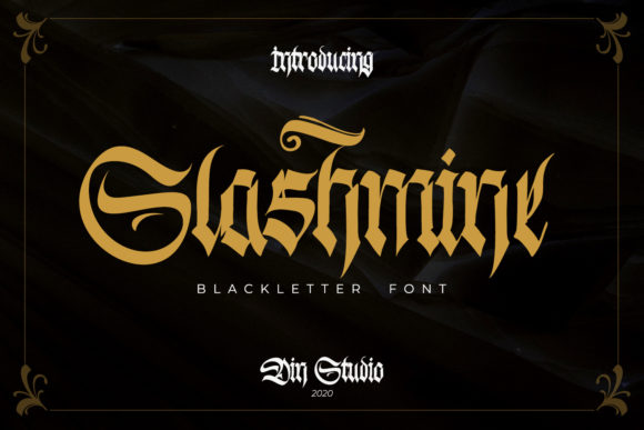 Print on Demand: Slashmine Blackletter Font By Din Studio